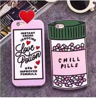 3D Liebestrank Chill Pills Flasche Soft Case für iPhone X XR XS Max 5C SE 5 S 6 6 S 7 7 8 Plus Nette Gummi Fundas Phone Cases