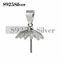 925 Sterling Silver Cap Pearl Pendant Mounting with Pin for ...