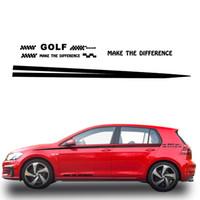 Volkswagen Golf Araç plakası Pikap Kamyon Çıkartmaları DIY Araç Şekillendirme Dekorasyon White için Araç Yan Gövde Decal Sticker