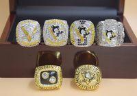 6 STÜCKE 1991 1992 2009 2016 2017 2017 Pittsburgh Pinguins Stanley Cup Hockey Meisterschaft Ring Set Männer Fan Souvenir Geschenk Großhandel
