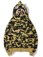 Yeni model Hoodie Erkekler A Yüzme AAPE Ape Köpekbalığı tasarımcı kapşonlu Coat Kamuflaj Tam Zip Ceket Kamuflaj Kapüşonlular