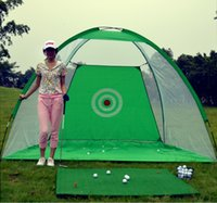 Pratique de golf portable Filet pliable Aides à la formation de golf Intérieur Entraînement de sport en plein air Frapper le filet Swing Trainer Cage