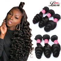 8A Brazilian Loose Wave Hair Bundles Brazilian Loose Wave Hu...