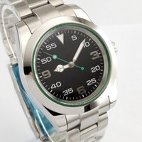 Bliger Sterile 40mm Green Luminous Black Dial Sapphire Cryst...