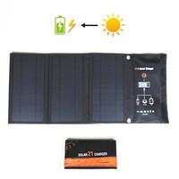 Solarladegerät 21W Solarpanel mit dualem USB-Port Wasserdichte, faltbare Solarzellen für Smartphones, Tablets und Campingreisen