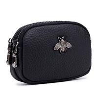 Mini Cüzdan Cep Para Çanta Çift Fermuarlı Sikke çanta Femme Sikke Kadın Cüzdan Hakiki Deri ücretsiz kargo