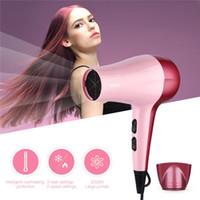 Sèche-cheveux de puissance professionnelle 2000W Sèche-cheveux Sèche-cheveux Compact Travel Sèche-cheveux avec 2 vitesses et 3 réglages de chaleur Collecte de vent