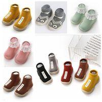 Первые ходоки малыша младенцы мокасины Prewalker младенческой летом нескользящей этаж носки новорожденного первые ходоки обувь на резиновой подошве обуви BYP5510