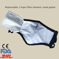 DHL ship 12 hour PM2. 5 dust mask filters anti pollution brea...
