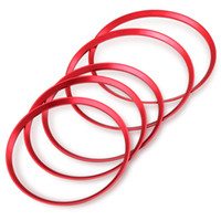 محفظة 5pcs الأحمر السيارات تنفيس الهواء منفذ الدائري غطاء تريم الديكور لمرسيدس بنز A / ب / CLA / GLA الفئة 180 200 220 اكسسوارات السيارات التصميم