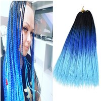 3X Box Braids Synthetic Braiding Hair Ombre Color 24Inch 22R...