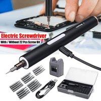 DOERSUPP Mini Elétrica Cordless Magnetic Screw Driver Ferramenta recarregável Li-ion Battery Precisions Mão chave de fenda Bit Set Y200321