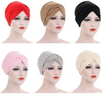Muslim Women Bonnet Turban Long Tail Hat Hair Loss Hat Beani...