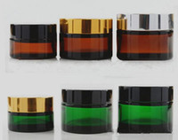 50g frascos de vidro verde recipiente de cera com prata preto tampa de ouro samll vidro frasco cosmético unbreakable jar bho cera dab concentrado de óleo