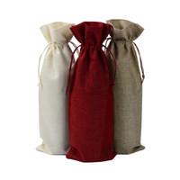 Sacchi di iuta Sacchi con cordoncino 15x38cm Sacchetti di lino Sacchetti di vino Sacchetti di raccolta di sapone