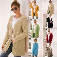 여성 가디건 재킷 모피 코트 양털 스웨터 점퍼 캐주얼 자켓 긴 소매 스웨터 후드 Vestidos 여성 의류 C6249