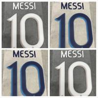 штамповочный футбольные значки насчитывающего шрифта 19 20 Аргентина Черного Белого Printing Футбол Namesets MESSI DYBALA игрока впечатленный пластмассовая наклейка