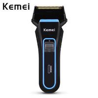Kemei-2016 Profesyonel Elektrikli Tıraş erkek Sakal Tıraş Makinesi 100-240 V Şarj Edilebilir Elektrikli Tıraş Makinesi Taşınabilir Jilet Giyotin