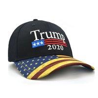 قابل للتعديل دونالد ترامب قبعات 2020 جعل أميركا العظمى مرة أخرى التطريز ترامب كاب البيسبول القطن الأسود أزياء علم الولايات المتحدة الأمريكية طباعة الكبار الرياضة القبعة