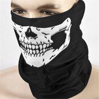 1pcs White Skull Black Mask Bandana Bike Motorcycle Neck Fac...