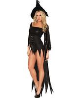Женщины сексуальные костюмы ведьм для взрослых хэллоуин косплей карнавал ну вечеринку костюм дьявол кисточкой роскошные необычные платья