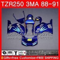 Corps pour YAMAHA TZR-250 3MA TZR250 88 89 90 91 118HM.6 TZR250RR TZR250 brillant Bleu Go !! RS RR YPVS TZR 250 1988 1989 1990 1991 Kit de carénage
