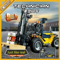 592pcs Compatible Legoing Technic Engineering Forklift Trail...