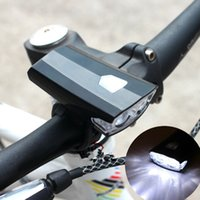 ماء الدراجة الخفيفة المصباح السوبر مشرق دراجة الدراجات 2LED الجبهة الضوء USB قابلة للشحن المصباح كشافات زينة Bycicle