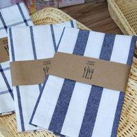 40 * 60 cm de algodón de lino de rayas a cuadros Mats Mantel Breves antecedentes Decoración de la mesa Servilletas Toallas mantel de cocina Vajilla Pads
