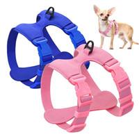 Harnais pour chien pour petits chiens Chihuahua Yorkie Ajustable cuir souple Pet Puppy Harnais Gilet Rose Petshop Pet Supplies
