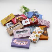 3D Mink Wimpern Paketboxen rechteckig falsche Wimpern Verpackung Leere Wimper-Kasten-Kasten Kreatives Drucken Lashes Box Verpackung RRA3257