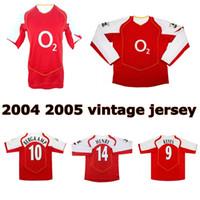 2004 2005 Vieira Pires Reyes Bergkamp Henry Retro Jersey di calcio 04 05 v. Persie Fabregas Gilberto Vecchia camicia da calcio vintage classica