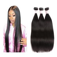 3 Bundles 8-28 inch Peruvian Virgin Remy Human Hair Bundles Loose Wave Yaki Straight Deep Curly Body Wave Straight Natural Black Color