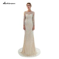 Elegant Mermaid Evening Dress High- end Hand Made Sequin Bead...
