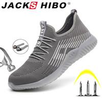 JACKSHIBO respirante sécurité Chaussures de travail pour les hommes Homme Acier Toe Cap Bottes Construction Chaussures de sécurité Bottes de travail anti-Smashing