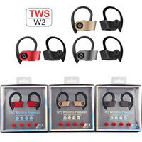 TWS-W2 Auriculares Bluetooth Auriculares gemelos Mini en la oreja los auriculares Deporte Con 2 Verdadero inalámbrica para auriculares estéreo para Smartphone