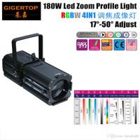 TP-006 180W RGBW 4IN1 الألومنيوم بقيادة ضوء الملف 100V-240V LED Ellipsoidals دليل التركيز LED المرحلة الخلفية العارض FREESHIPPING