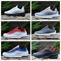 98 OG Leather Mens Designer Running Chaussures Femme Air Cushion Casual Hommes Femmes Robe Blanc Noir Rouge Bleu Baskets sport Chaussures de sport 36-45