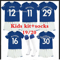 19 20 Everton kids soccer Jerseys home kit+ socks SIGURDSSON ...