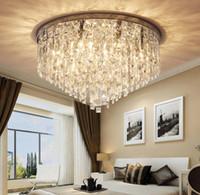 Современная хрустальная люстра освещение скрытое крепление люстры свет для гостиной столовая спальня зал ресторан отель декор