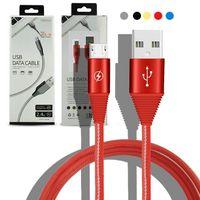화웨이 충전기 안드로이드 휴대폰 동기화 케이블 1M와 소매 용 데이터 회선 패키지 꼰 케이블을 충전 나일론 2.4A USB 케이블