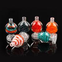 Nouveau design Casquettes Casquette Colorful Glass Boule à bulle Boule à bulle de verre pour bord biseauté Quartz Banger DAB Rig Greal Eau Bong