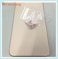 DHL libre para el iPhone 7 7 Plus Color Rojo hacia atrás la cubierta para iPhone Plus 8 8 8 + cubierta posterior del estilo del metal como el cristal 8
