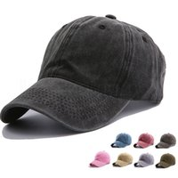15styles maciza natural damas gorra de béisbol del casquillo del sombrero de algodón lavadas hombres al aire libre las mujeres sunhat parte del snapback favor FFA4081-1