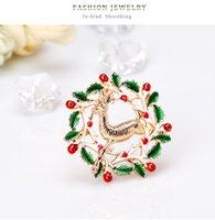 2020 Yeni Noel Hediyesi Rhinestone Geyik Broş iğneler Düğün Takı Kadınlar Kız Broş Buket Hicap iğneler Elbise Aksesuar