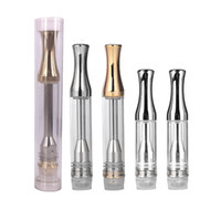 Cartucce PK Brass Knuckles AC1003 penne a vape in vetro vuoto atomizzatori 510 cartucce a filo con punta tonda in metallo dorato Orizzontale bobina ceramica