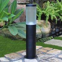 Su geçirmez IP55 LED Açık Çim Lambası 110V 220V Paslanmaz çelik Garden Courtyard Işıklar Peyzaj Lambası ile E27 Bankası LLFA ışıkları
