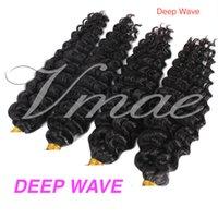 VMAE fabbrica all'ingrosso mongola indiano Virgin di Remy dell'onda di acqua onda profonda Afro crespo ricci U Tip pre legati estensioni dei capelli umani