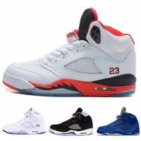 04636ff971e41 Nuevo clásico 5 5s V OG Negro Cemento de oro blanco Zapatos de baloncesto para  hombre