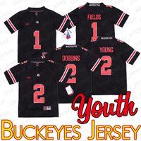 Jugend Ohio State Justin Felder 1 Buckeyes Jersey 2 JK Dobbins Chase Junge NCAA Football Trikots